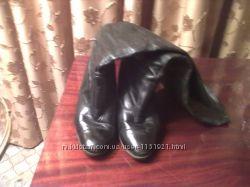 Женские коженные сапоги р - р 35