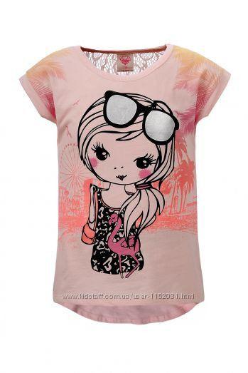 Нарядная футболочка на девочку рост 98, 122, Венгрия GLO-STORY 1188