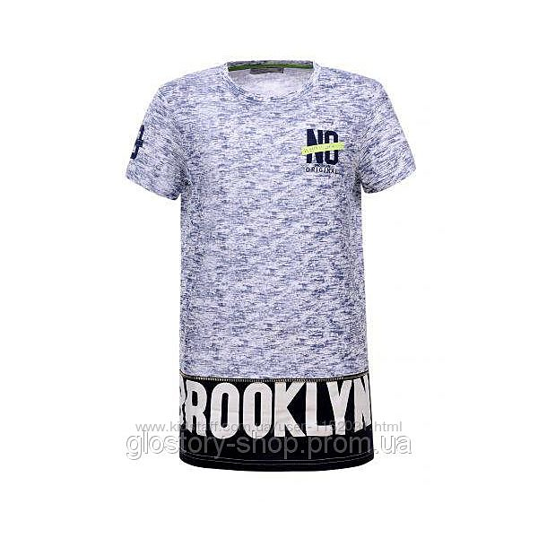 Летняя футболка подростковая Brooklyn размер 158 Glo-story 5275, хлопок