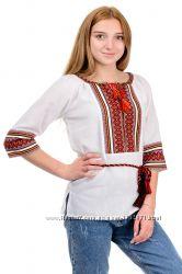 Вышиванка женская с рисунком разные цвета, р-ры 42 - 58, Украина