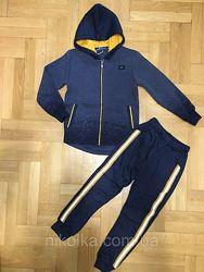 Теплый костюм спортивный с лампасами для мальчиков р 122 - 140,  Grace