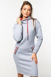 Платье женское теплое в спортивном стиле размер 48 Тм Nui Very 06-46