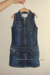 Детское джинсовое платье сарафан diesel на девочку 4-5 лет рост 104-110
