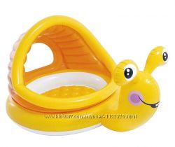 Детский надувной бассейн с навесом - Улитка Intex 57124