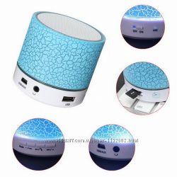 Портативная блютуз колонка А9 MP3 LED подсветка