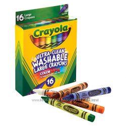 Карандаши Crayola Ultra Clean Large Crayons Смываемые 16 цветов. Оригинал