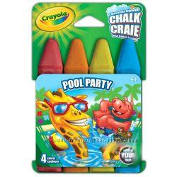 Мелки Crayola для рисования на асфальте 4 шт. в упаковке