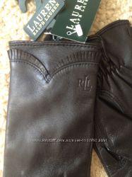 Кожаные перчатки Ralph lauren