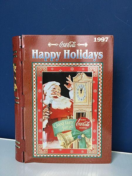 Коробка-шкатулка новогодняя, в в виде книжки, винтаж