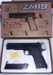 Пистолет металл пластик ZM 19 реплика Кольт Colt 1911-A1