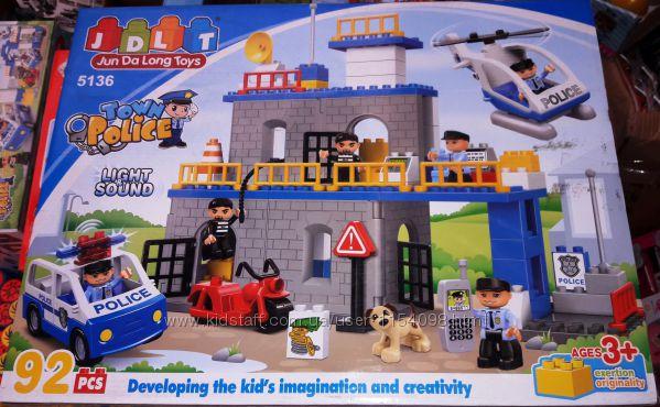 Конструктор для малышей JDLT 5136 аналог Lego Duplo Полицейский участок,