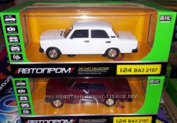 Машинка металлическая ВАЗ 2107 Автопром, Семерка 3 цвета