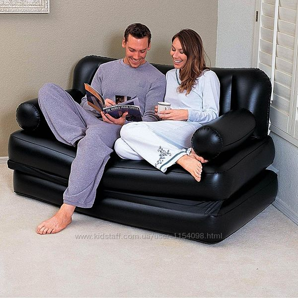 Надувной диван Bestway 75056, 188 х 152 х 64 см, с электрическим насосом