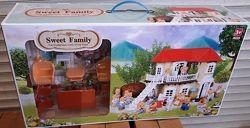 Игровой домик Happy Family 012 01 аналог Sylvanian Families со светов