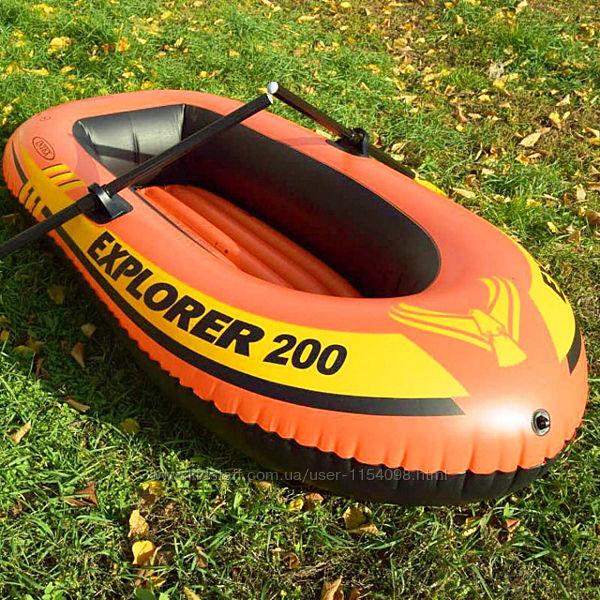 Полутораместная надувная лодка Intex 58331 Explorer 200 Set, 185 х 94 х 41