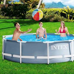 Каркасный круглый бассейн Intex 26702, 305 x 76 см с насосом 1250 л/ч
