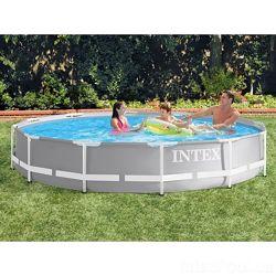 Каркасный круглый бассейн Intex 26712 New, 366 x 76 см с фильтр насосом