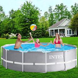 Каркасный бассейн Intex 26718 , 366 x 122 см насос 3785 л/ч, лестница