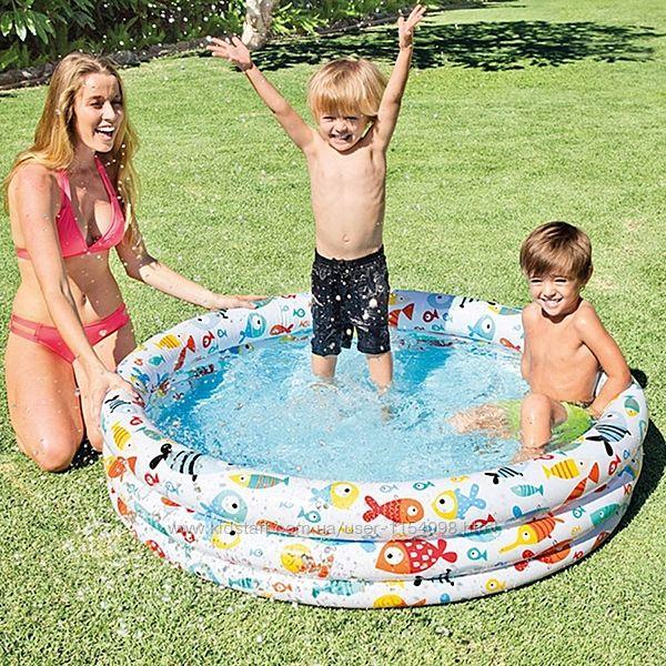 Детский надувной бассейн Intex 59431 Аквариум, 132 х 28 см