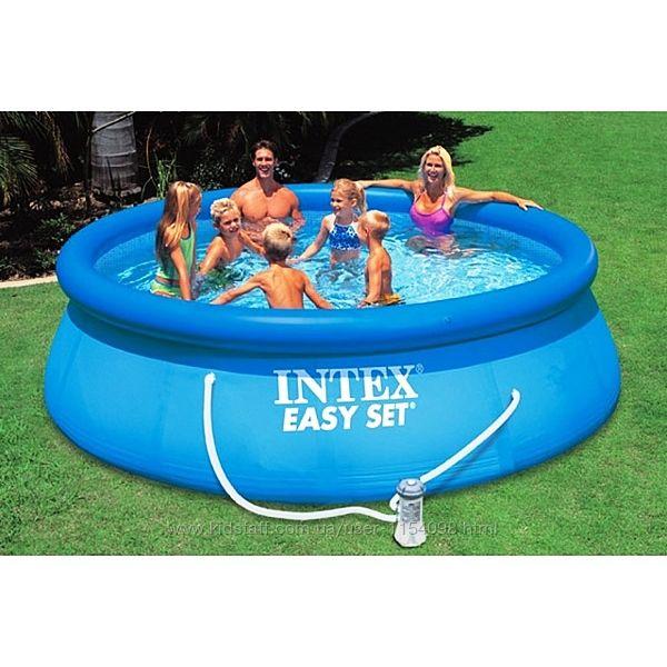 Надувной бассейн Intex 28142 Easy Set с фильтр-насосом 396Х84 СМ