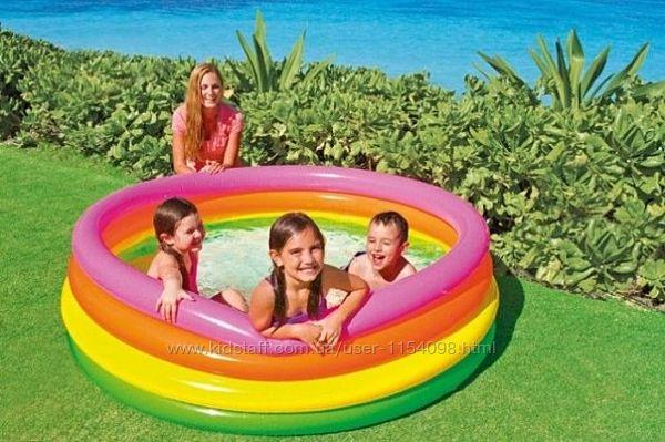 Детский надувной бассейн Intex 56441 Радуга 168х46 см