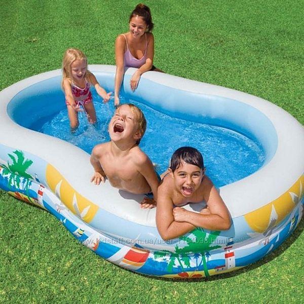 Детский надувной бассейн Intex 56490 Тропическая Лагуна 262х160х46 см