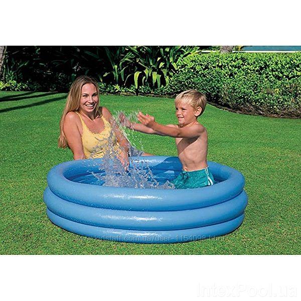 Надувной детский бассейн Intex 59416 Кристал 114х25см