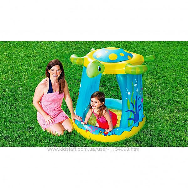 Детский надувной бассейн Bestway 52219 Черепашка 109 х 96 х 104 см, с нав