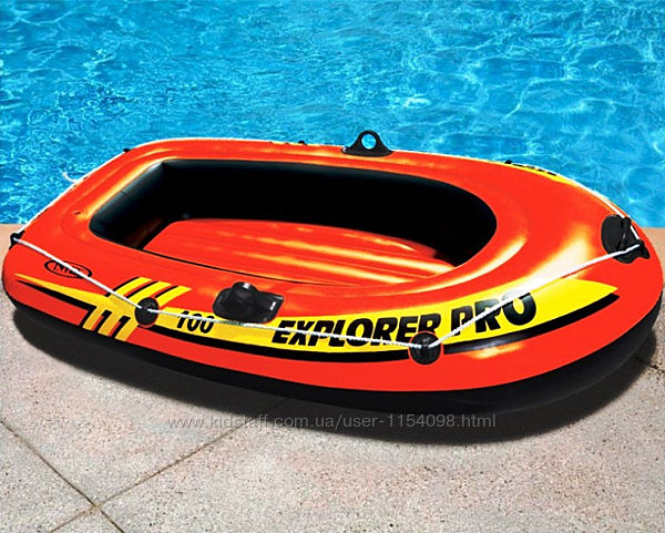 Полутораместная надувная лодка Intex 58356 Explorer Pro 200, 196 х 102 х 33