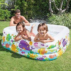Детский надувной бассейн Intex 57471 Аквариум, 159х159х50 см