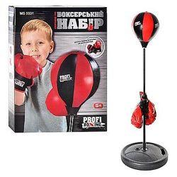 Детский боксерский спортивный набор с регулируемой стойкой 0331