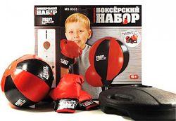 Детский боксерский спортивный набор MS 0333 боксерская груша и перчатки, от