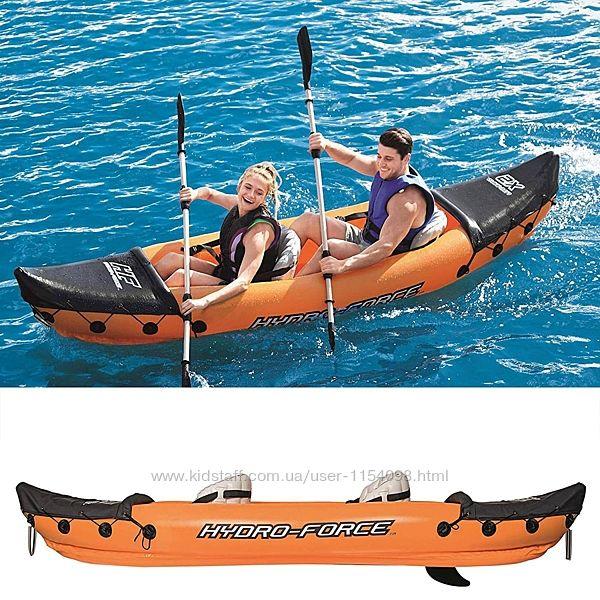 Двухместная надувная байдарка каяк Bestway 65077 Lite-Rapid X2 Kayak