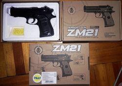 Пистолет детский ZM 21 металл пластик копия Beretta 92