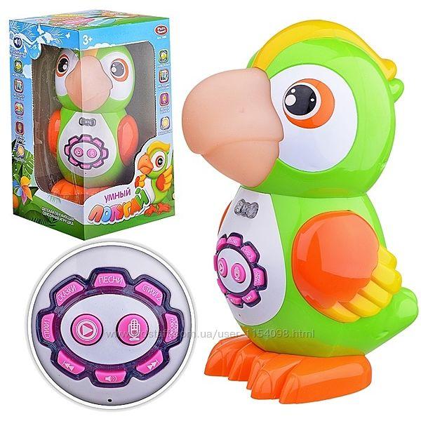 Интерактивная игрушка Умный Попугай 7496 43 стихотворения, 24 сказки, 15 пе