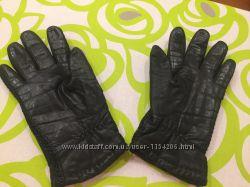 Кожаные перчатки на овчине