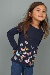 Реглан H&M для девочек стильные красивые