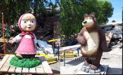Садовые, парковые скульптуры, вазоны, скамейки