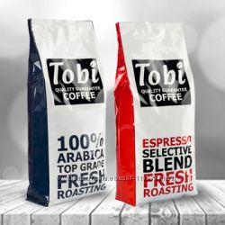 Премиальный кофе в зернах свежей обжарки Tobi coffee Украина