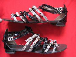 Moda in Pelle 38 кожаные сандалии босоножки женские