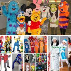 Костюмы аниматорам, карнавальные, маскарадные, ростовые куклы, парики, шляп