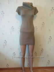 теплое вязаное платье туника selected femme