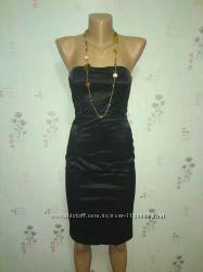 Короткое сексуальное вечернее элегантное маленькое черное платье mango XS