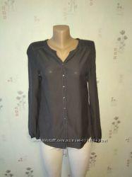 Классная серая рубашка блуза от h&m