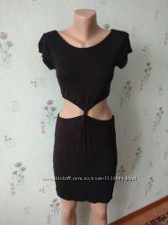 Шикарное черное сексуальное короткое платье boohoo