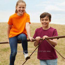 Детские футболки.  Однотонные.  Плотность 145.