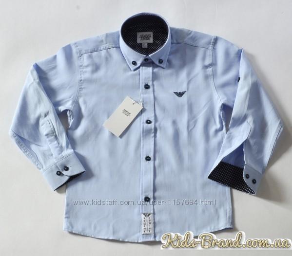 Детские белые рубашки ARMANI в наличии от 6 до 14лет