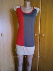 трикотажное платье туника NEXT р. UK 10 идет на р. 44-46 S-M