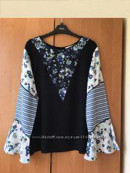 Натуральная блуза next р. UK16 или 50 XL