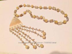 ожерелье перламутр
